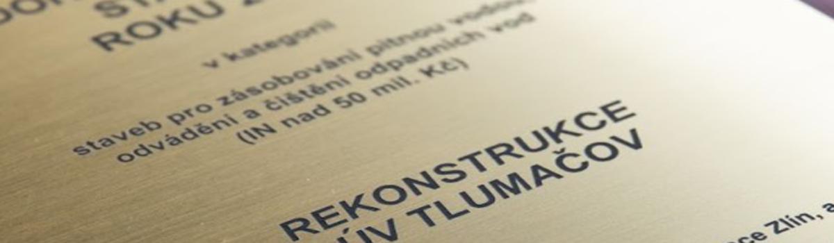 Úpravna vody v Tlumačově je stavbou roku 2018